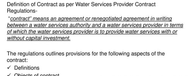 Bulk Water Supply Agreement Bulk Water Supply Contracts Ppt Download