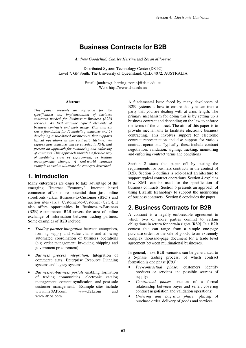 Business Contract Agreement Pdf Business Contracts For B2b
