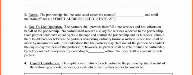 Business Partnership Agreement Between Two Companies Standard Partnership Agreement Of Contract Sample Between Two Sample