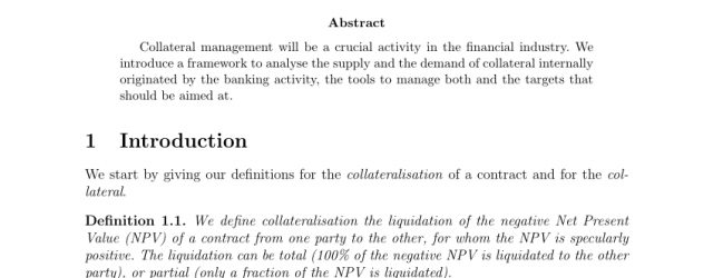 Collateral Management Agreement Definition Pdf Collateral Management Processes Tools And Metrics