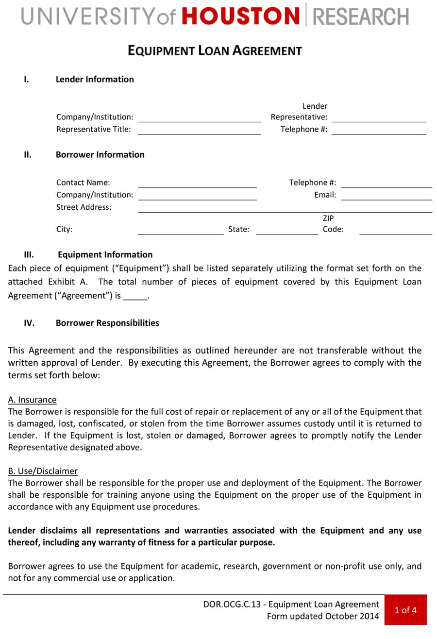 Company Representative Agreement 40 Free Loan Agreement Templates Word Pdf Template Lab