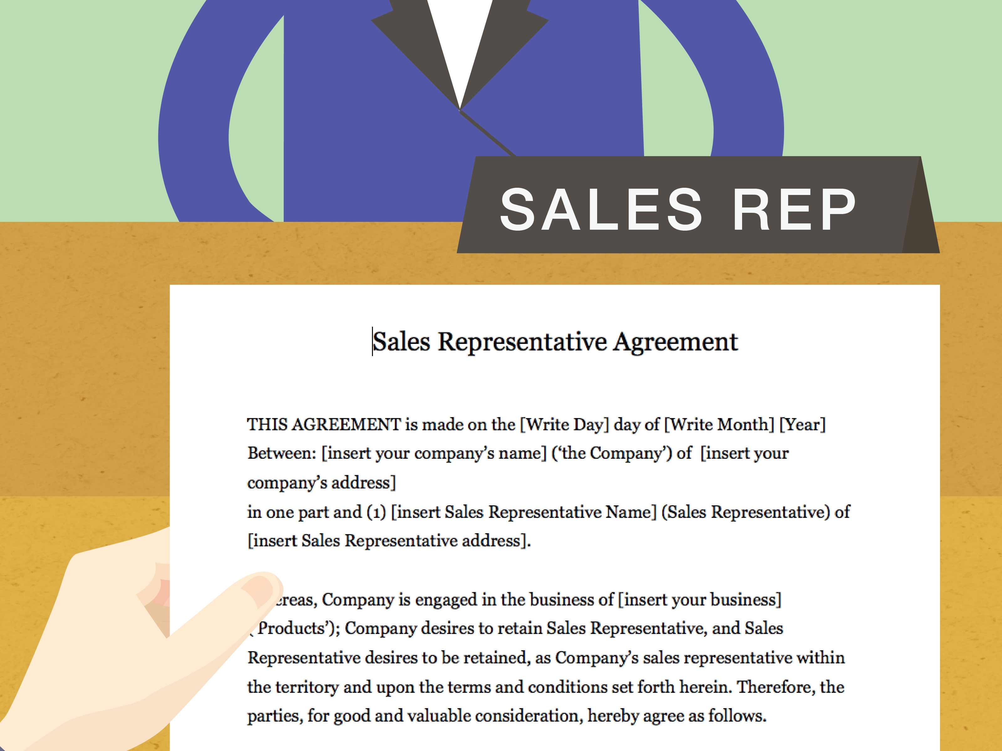 Company Representative Agreement How To Draft A Sales Representative Agreement With Pictures