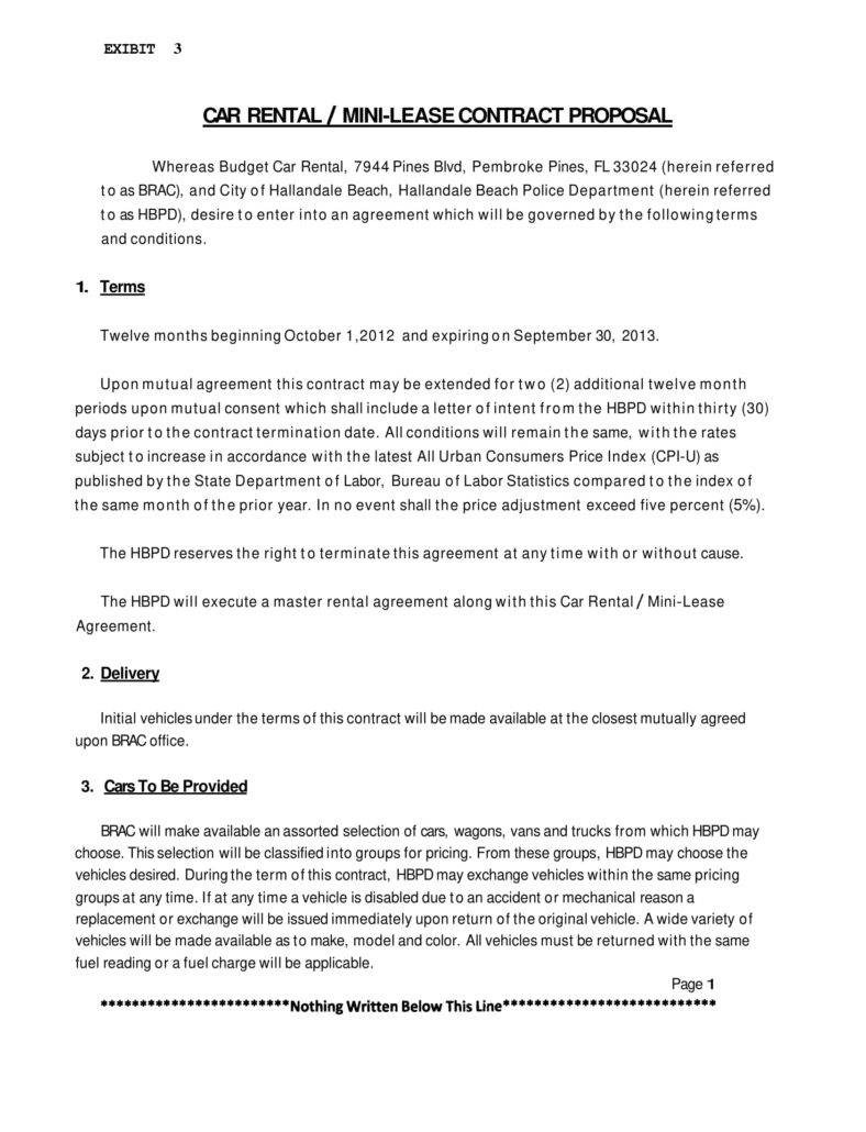 Contract Rental Agreement Template 7 Personal Car Rental Agreement Templates Pdf Word Free