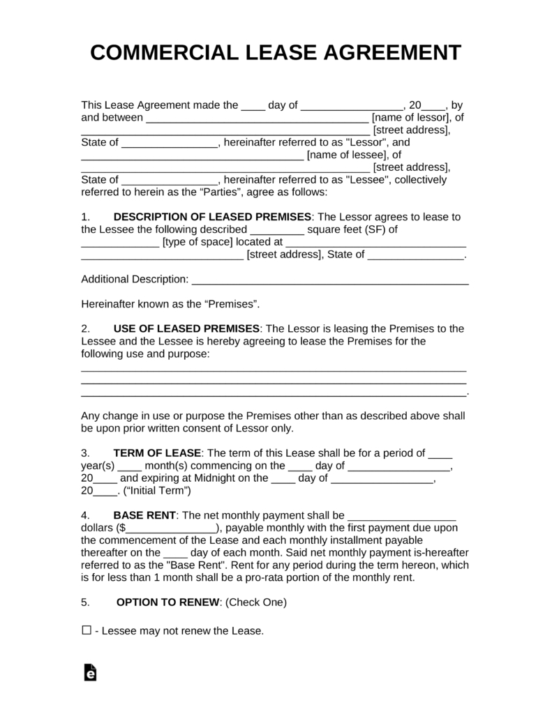 Contract Rental Agreement Template Free Commercial Rental Lease Agreement Templates Pdf Word