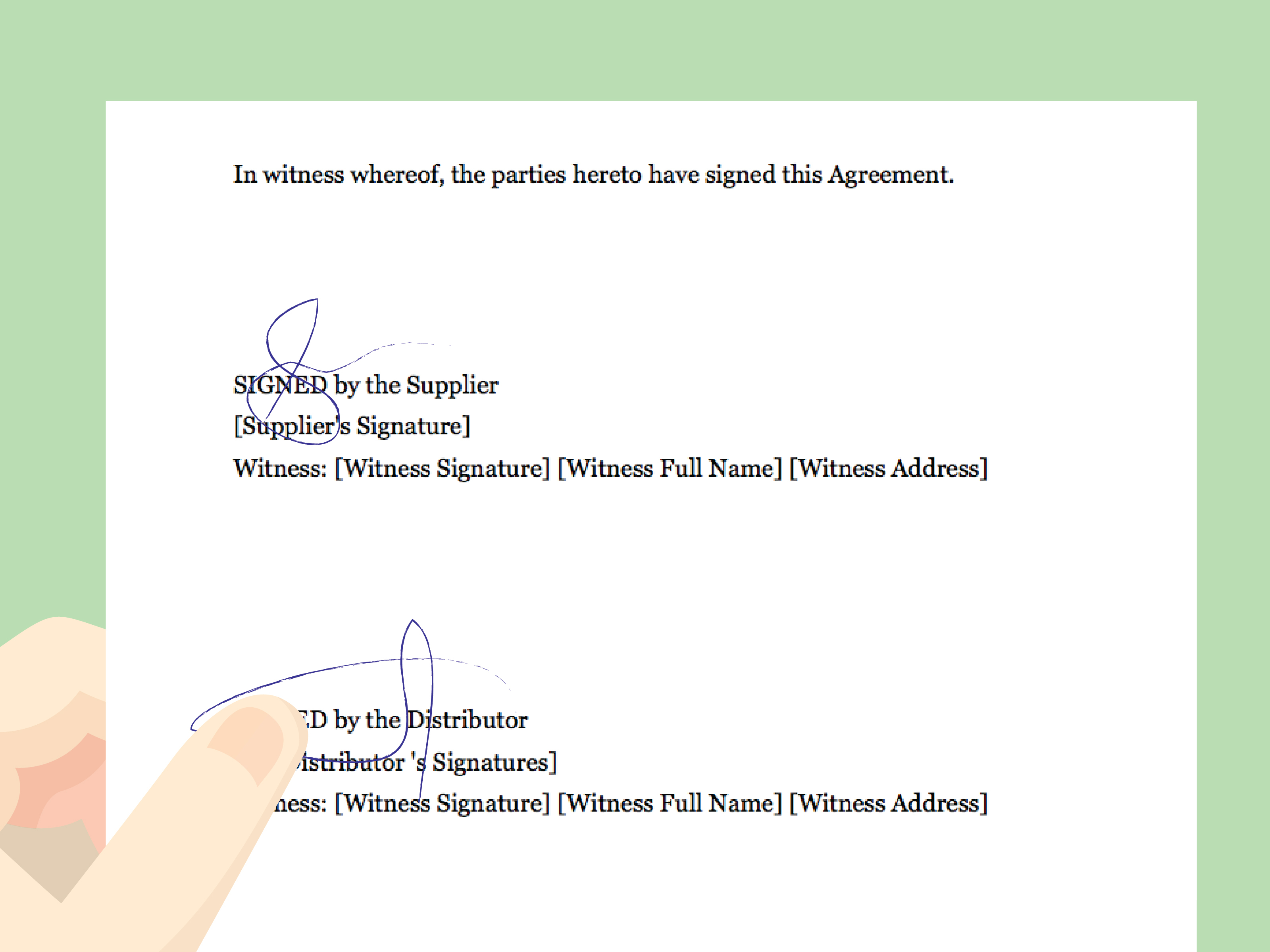 Distributor Agreement Sample Contract How To Draft A Distributor Agreement With Pictures Wikihow