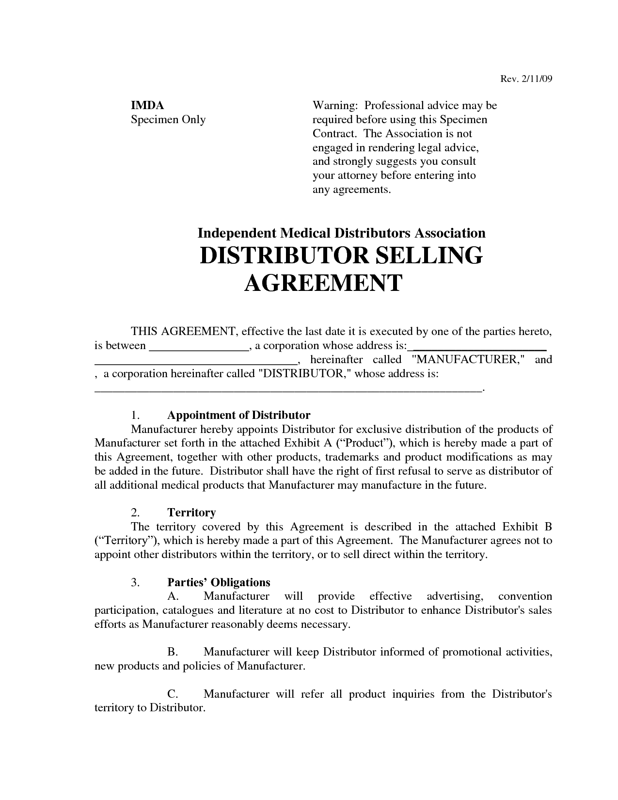 Distributor Agreement Sample Contract Top 5 Free Distributor Agreement Templates Word Templates Excel