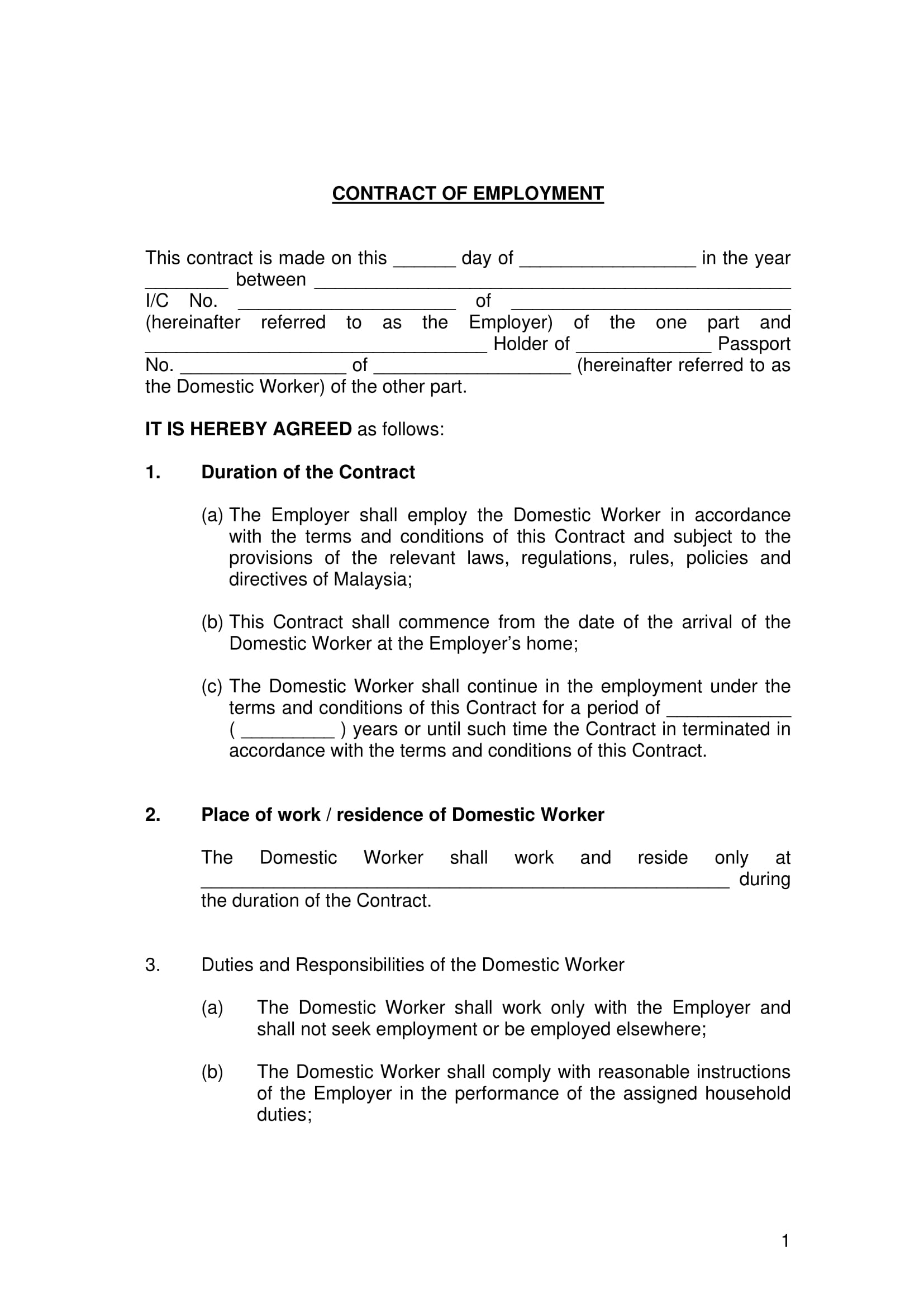 Employee Termination Agreement Sample 22 Examples Of Employment Contract Templates Word Apple Pages