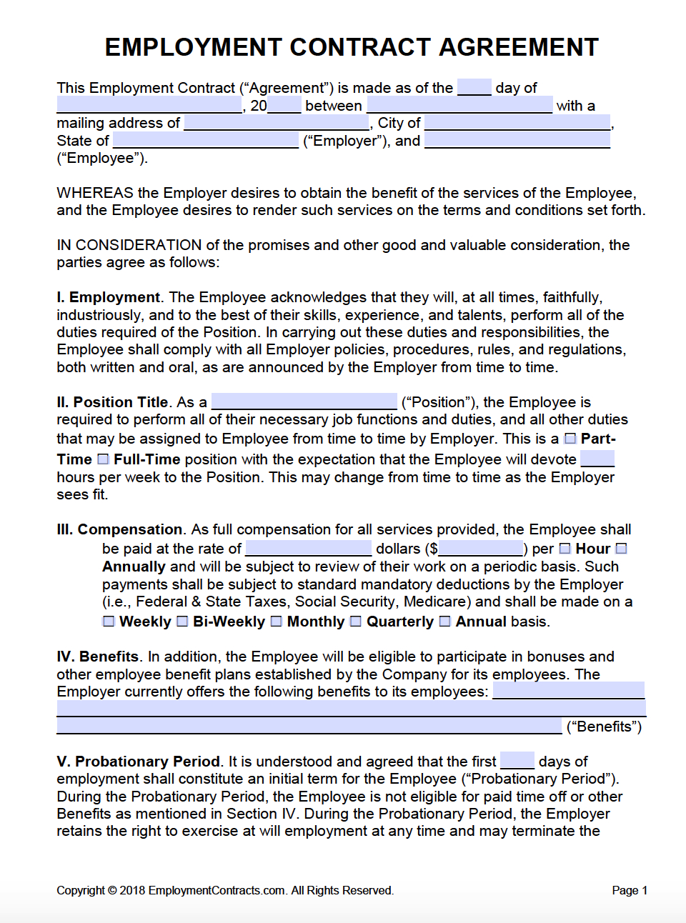 Employee Termination Agreement Sample Employment Agreement Contracts Pdf Word