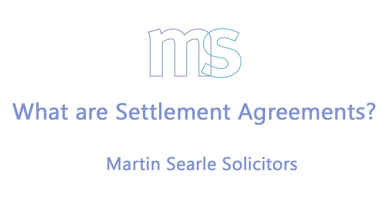 Employee Termination Agreement Sample What Is A Settlement Agreement Factsheet Advice For Employees