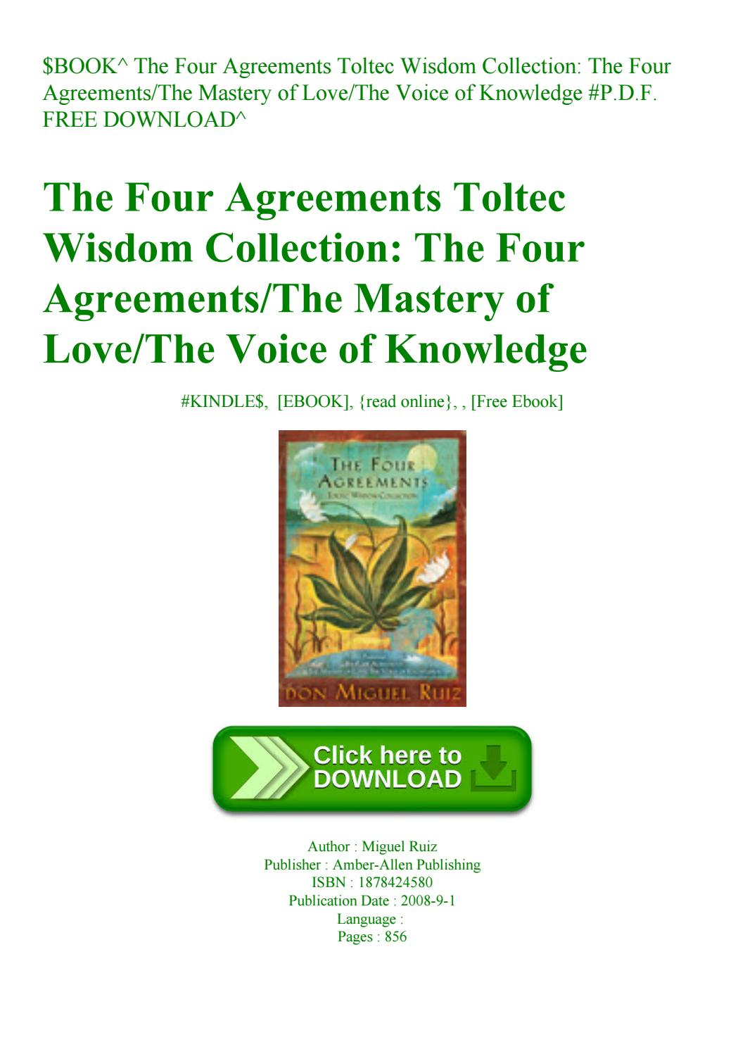 Four Agreements Book Free Download Book The Four Agreements Toltec Wisdom Collection The Four
