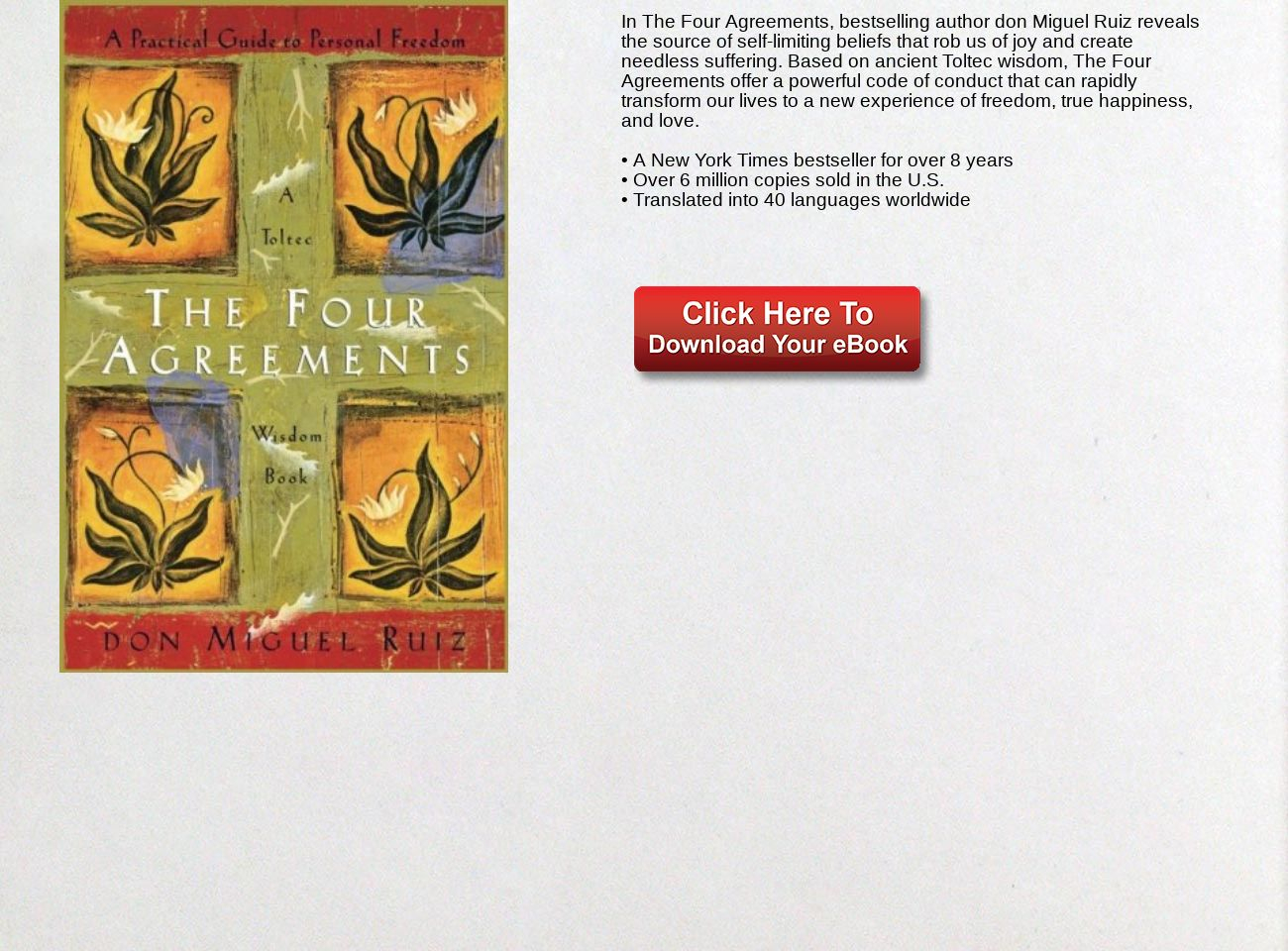 Four Agreements Book Free Download Download Ebook The Four Agreements A Practical Guide To Personal