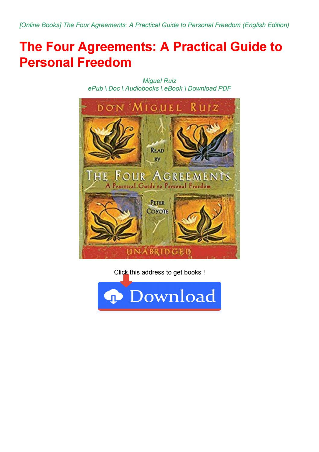 Four Agreements Book Free Download Ebook Download Free Pdf The Four Agreements A Practical Guide To