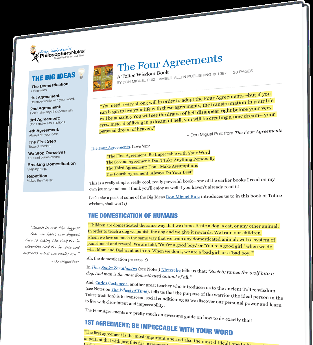 Four Agreements Book Free Download The Four Agreements Don Miguel Ruiz Philosophersnotes Optimize