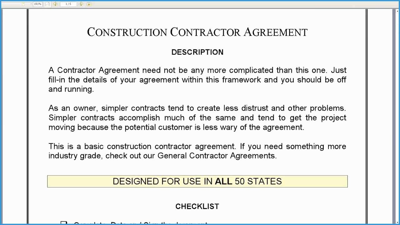 Free Construction Contract Agreement Template Free General Contractor Agreement Template Lovely Construction