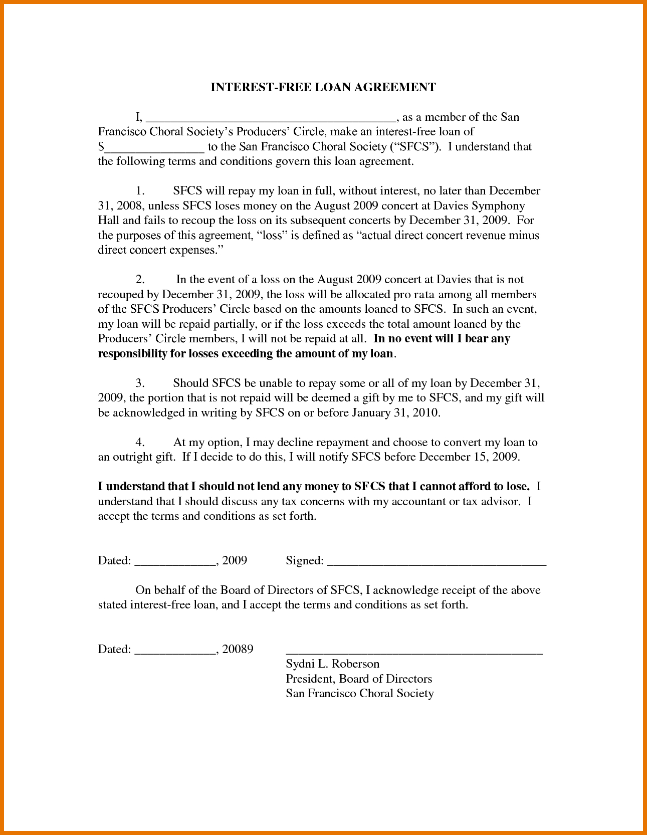 Free Loan Agreement 7 Free Loan Agreement Template Itinerary Template Sample