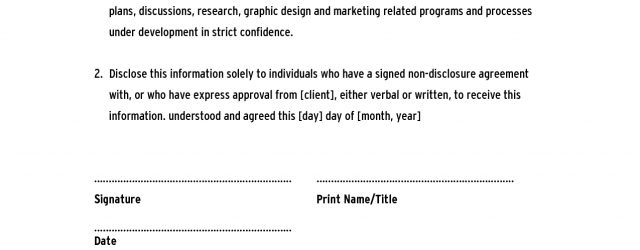 Free Non Disclosure Agreement Form 005 Template Ideas Confidentiality Agreement Stupendous Free