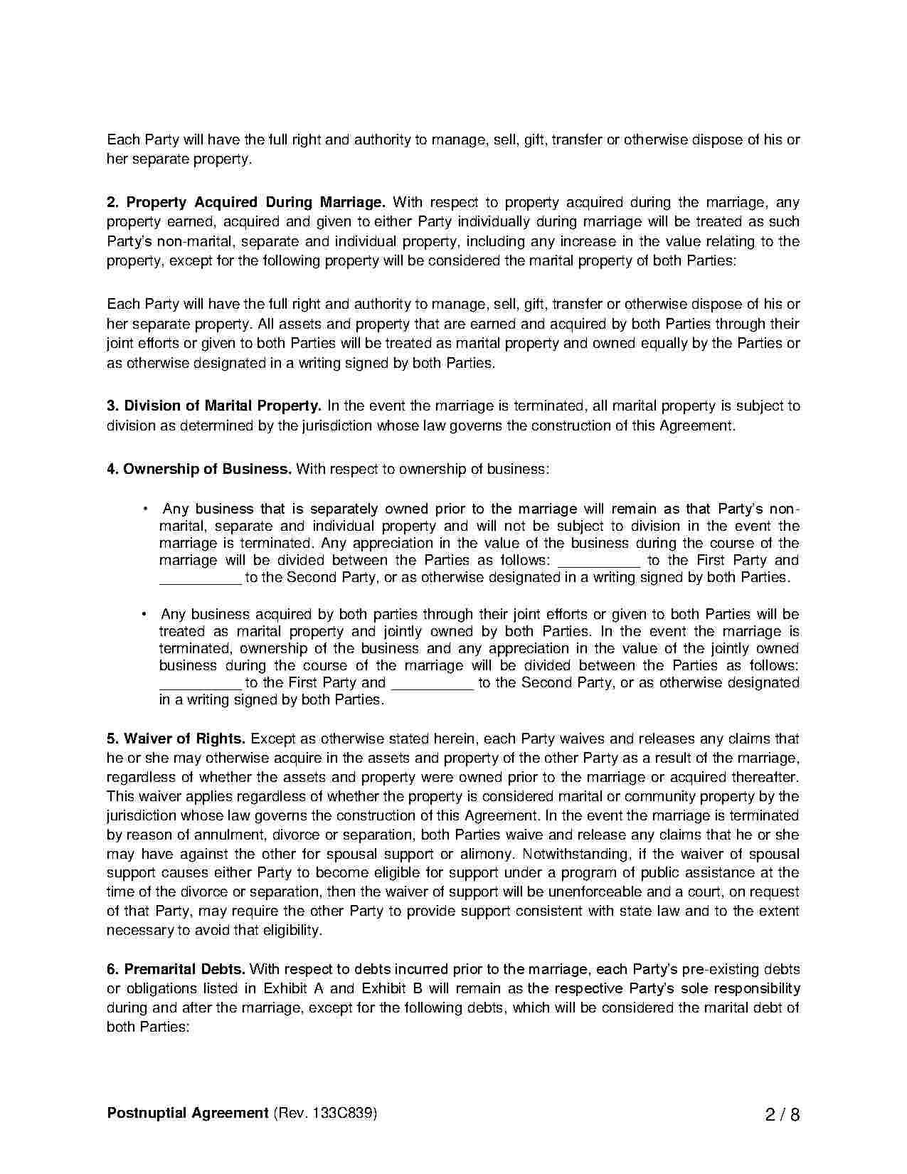 Free Prenuptial Agreement Template Australia Download Pet Custody Agreement Style 162 Template For Free At