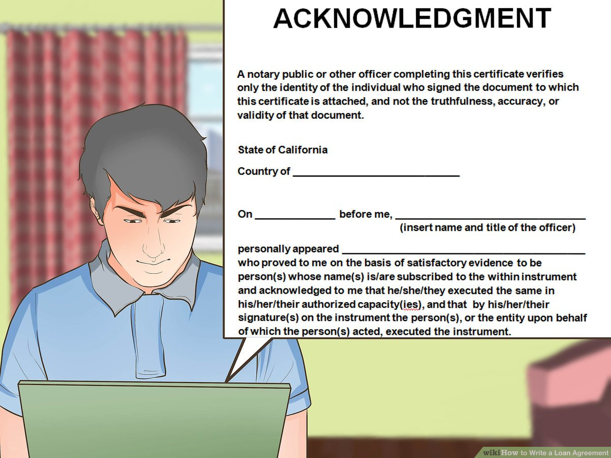 How To Write A Loan Agreement How To Write A Loan Agreement With Pictures Wikihow
