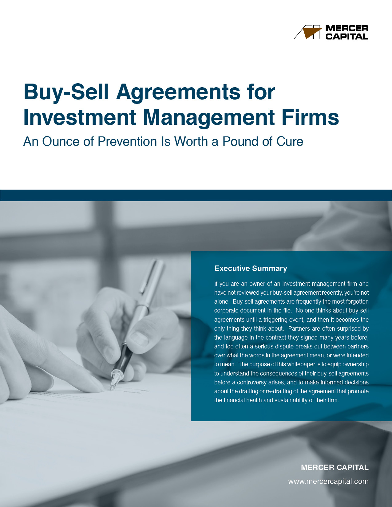 Investment Management Agreement Buy Sell Agreements For Investment Management Firms An Ounce Of