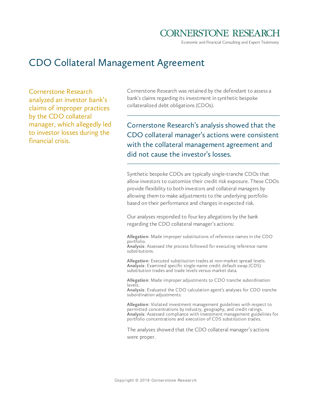 Investment Management Agreement Cdo Collateral Management Agreement