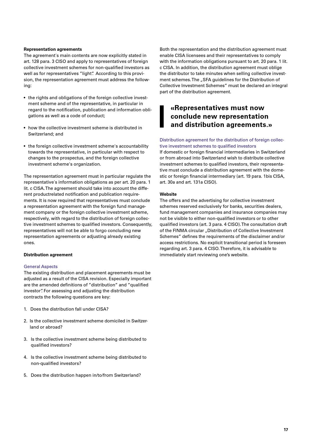 Investment Management Agreement Swiss Financial Services Newsletter Investment Management