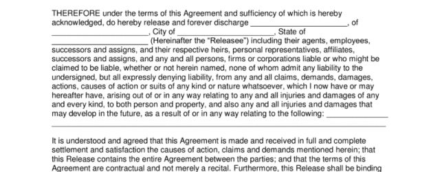 Liability Release Agreement Free Release Of Liability Hold Harmless Agreement Template Word