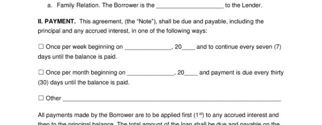 Loan Agreement Template Between Family Members Free Family Loan Agreement Template Pdf Word Eforms Free