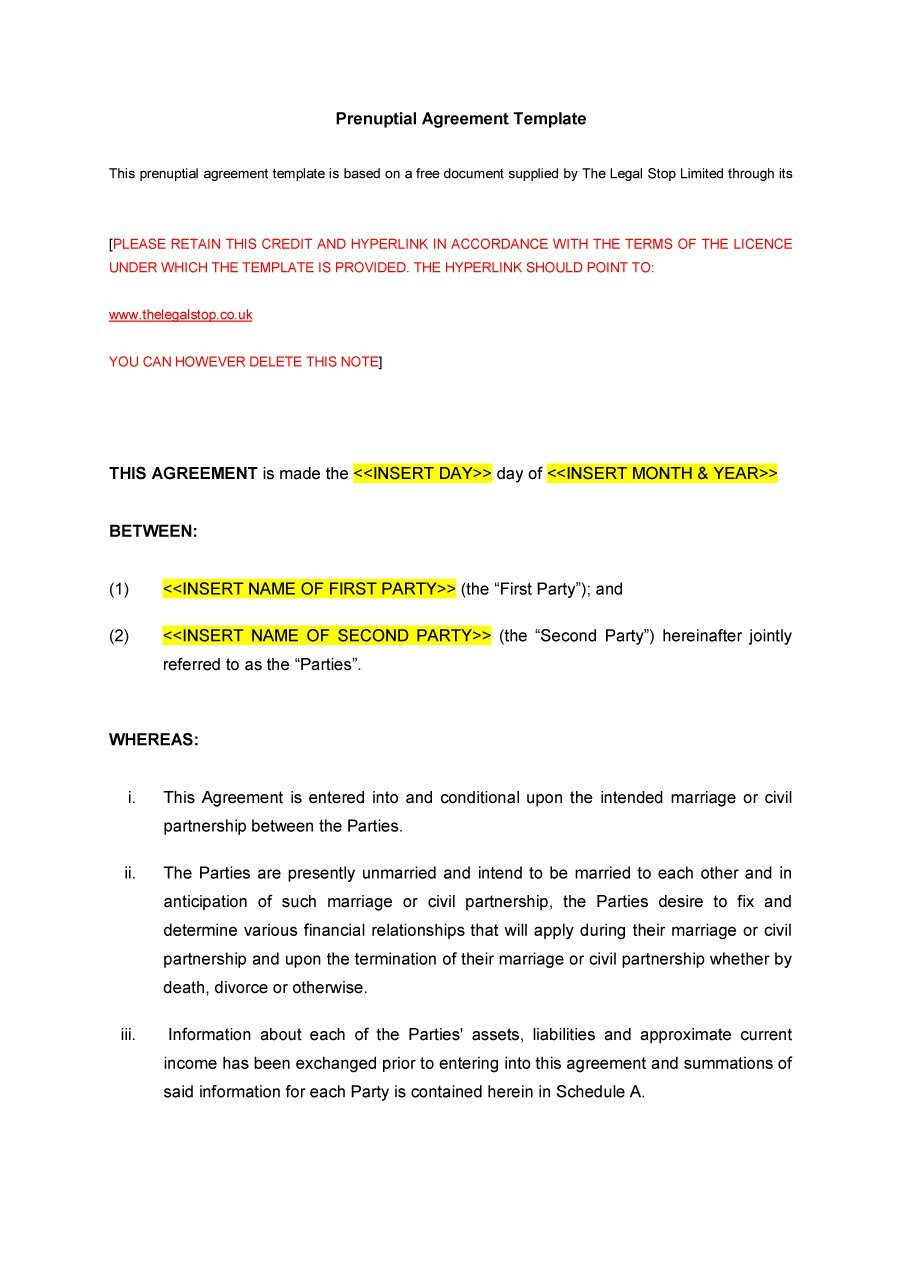 Marriage Termination Agreement 31 Free Prenuptial Agreement Samples Forms Free Template Downloads