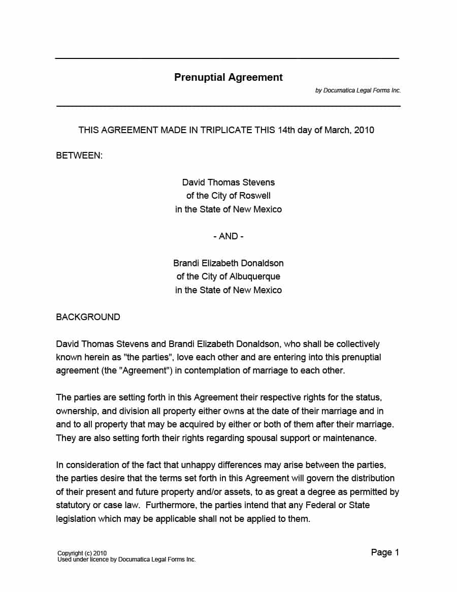 Marriage Termination Agreement 33 Marriage Contract Templates Standart Islamic Jewish