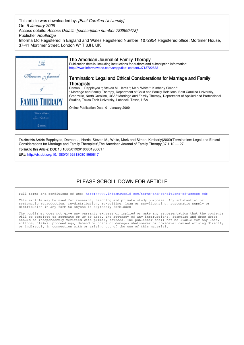 Marriage Termination Agreement Pdf Termination Legal And Ethical Considerations For Marriage And