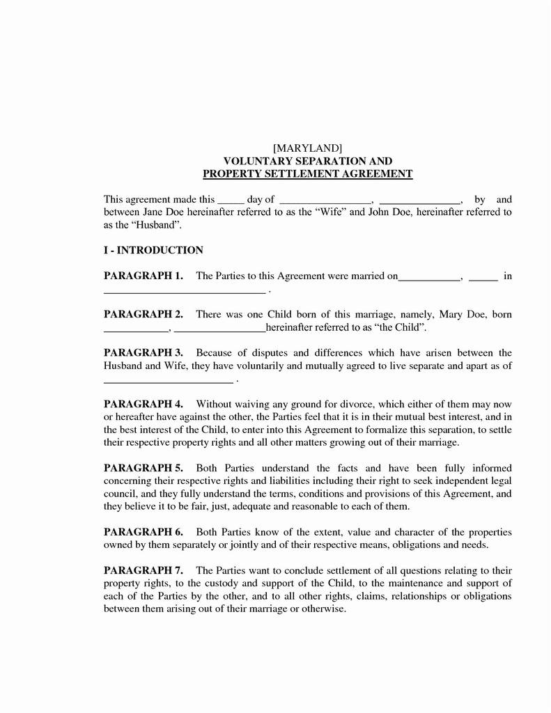 Nc Separation Agreement Template 48 Unique Nc Separation Agreement Worksheet Document Templates Ideas
