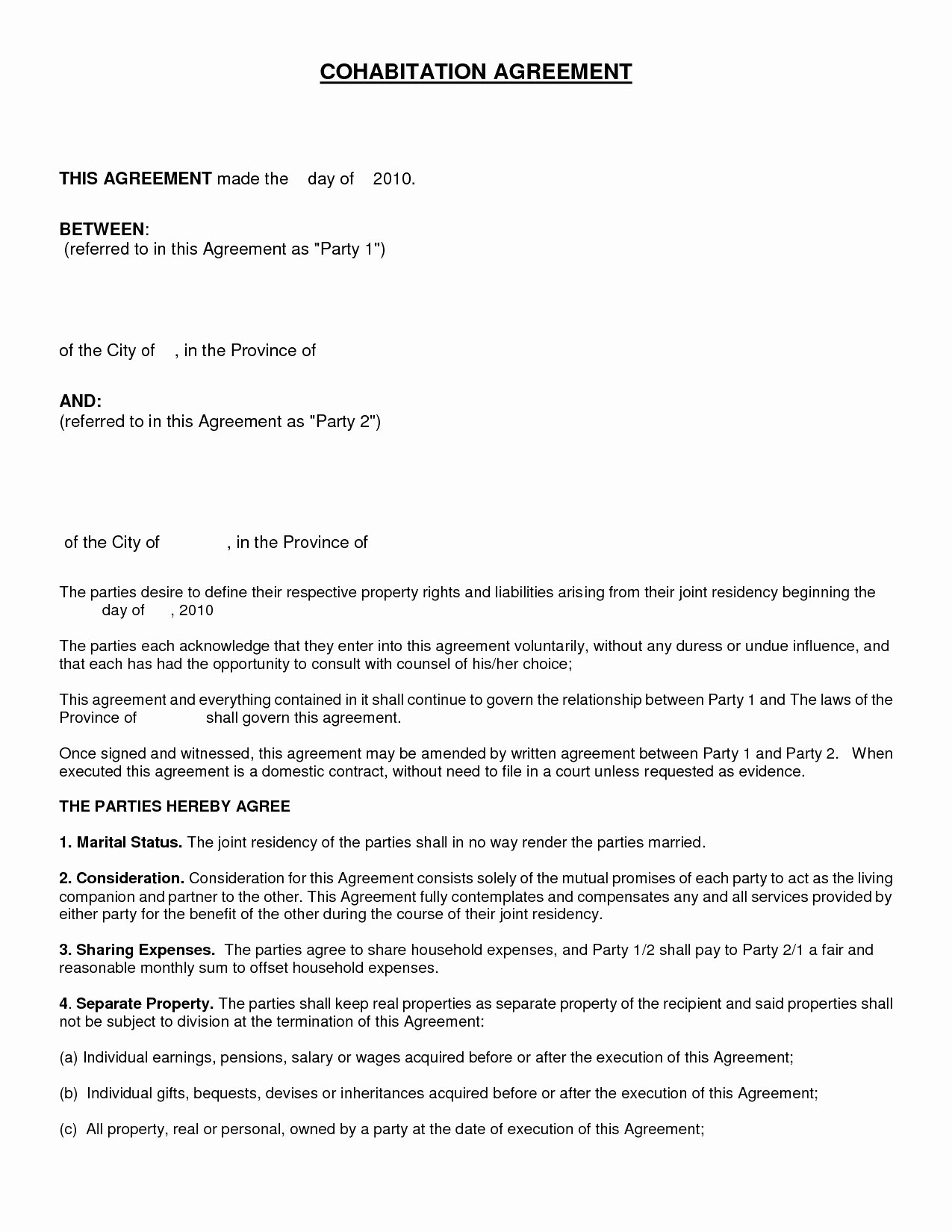 Nc Separation Agreement Template Nc Separation Agreement Template Beautiful 7 Example Of An