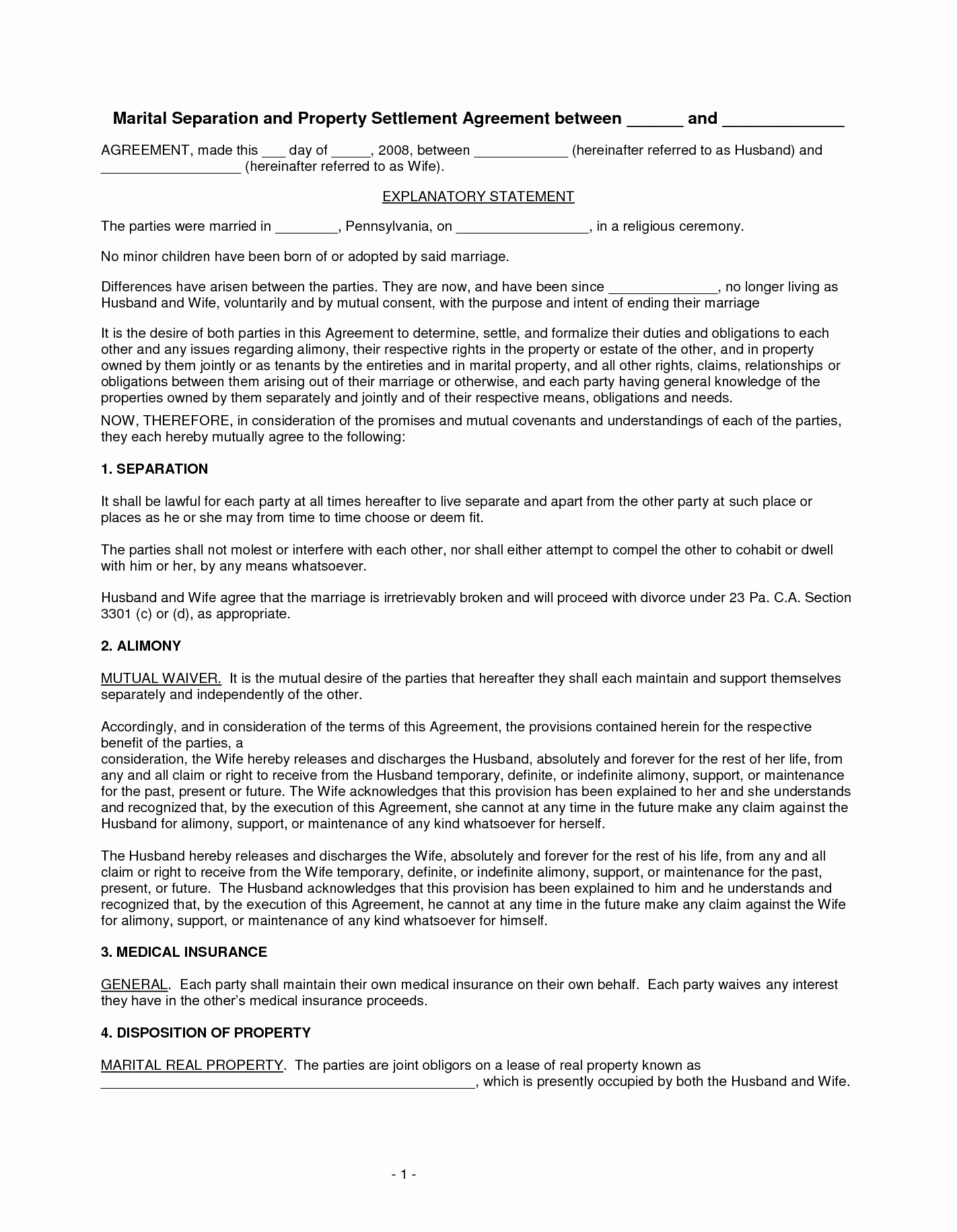 Nc Separation Agreement Template Nc Separation Agreement Template Stcharleschill Template