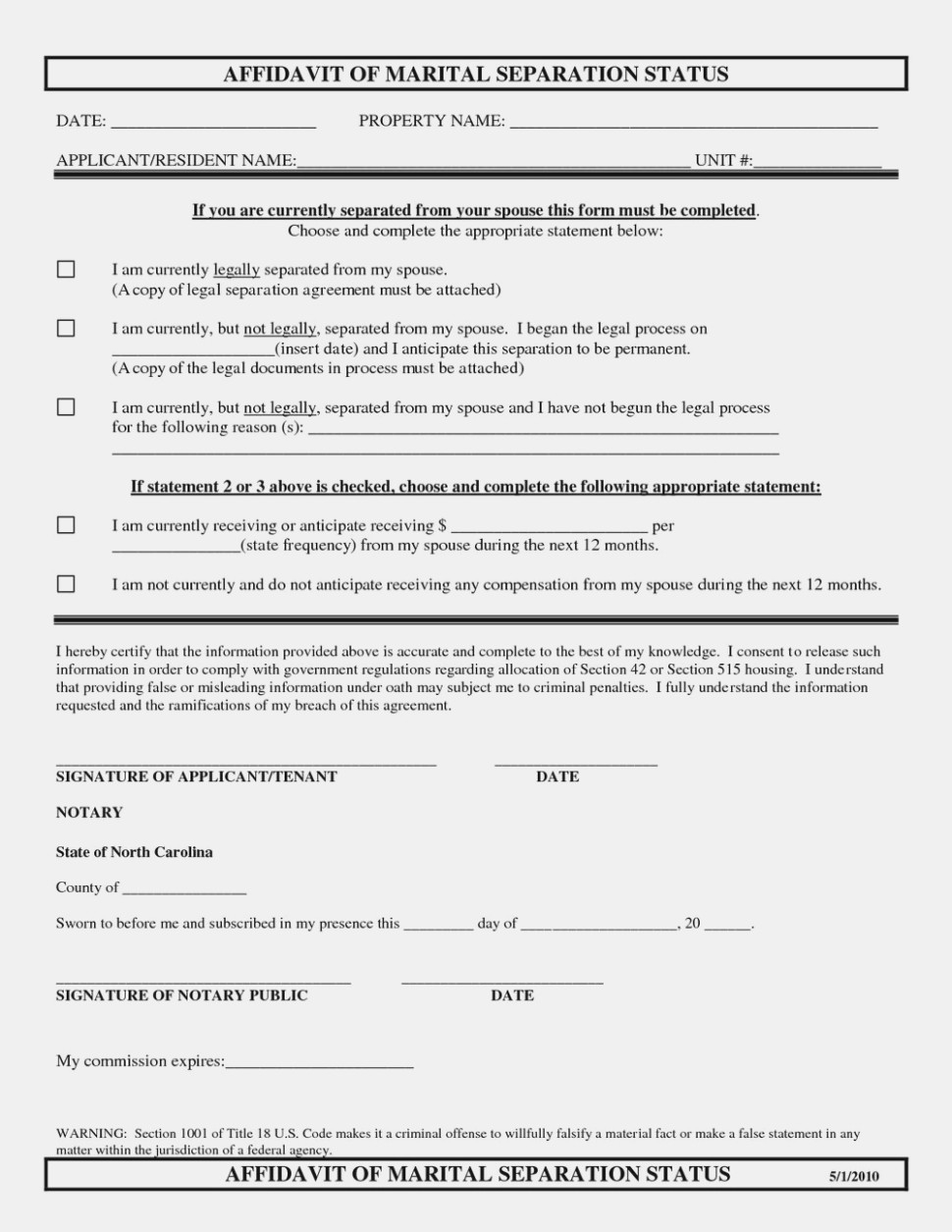 Nc Separation Agreement Template The Latest Trend In Nys Separation Form Information