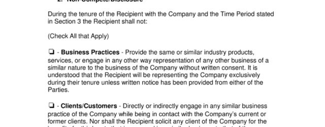 Non Compete Agreements In Massachusetts Massachusetts Non Compete Agreement Template Eforms Free