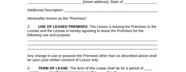 Office Tenancy Agreement Template Free Commercial Rental Lease Agreement Templates Pdf Word