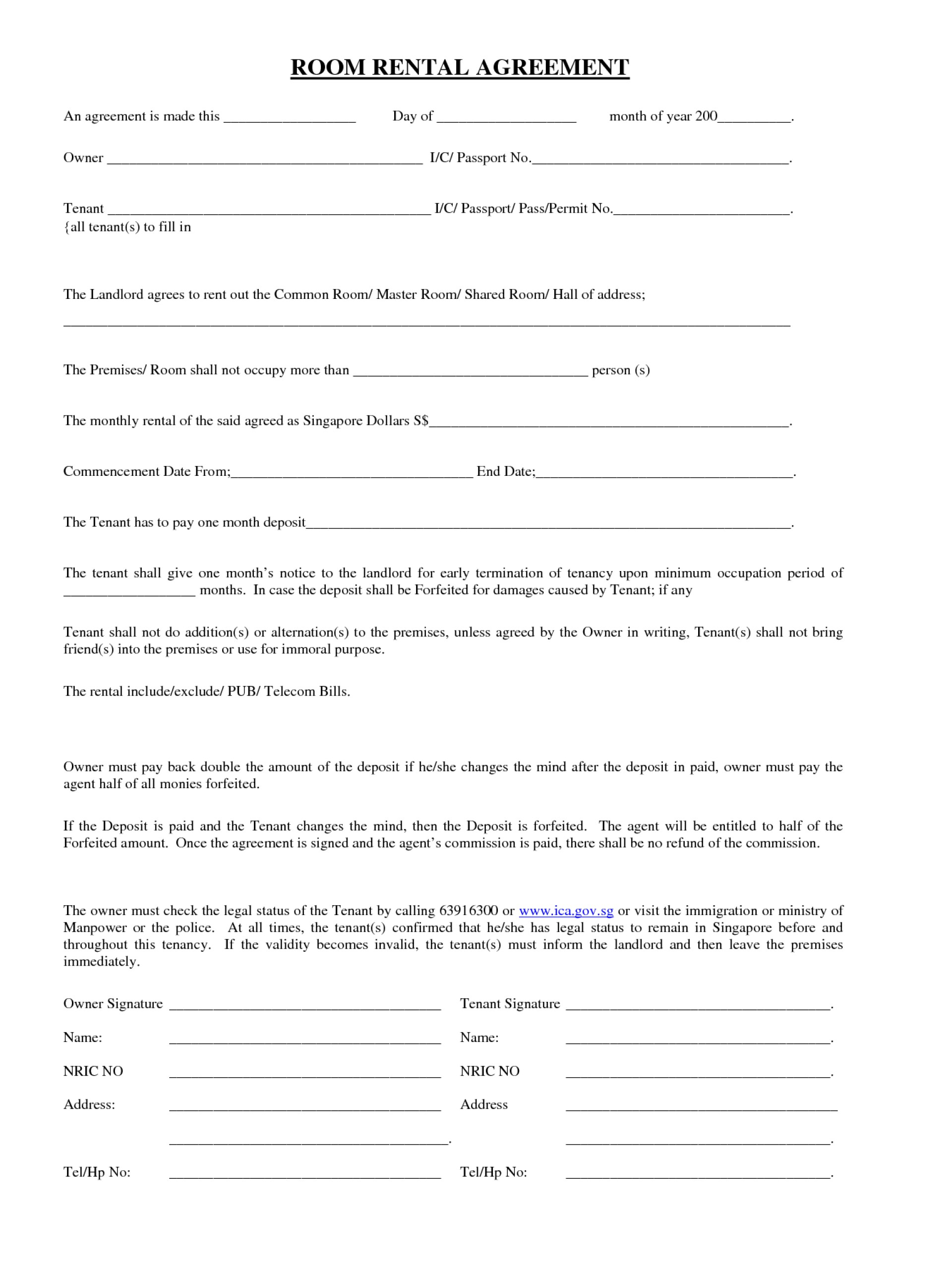 Oklahoma Lease Agreement 006 House Rental Contract Template Homee Agreement Forms Washington