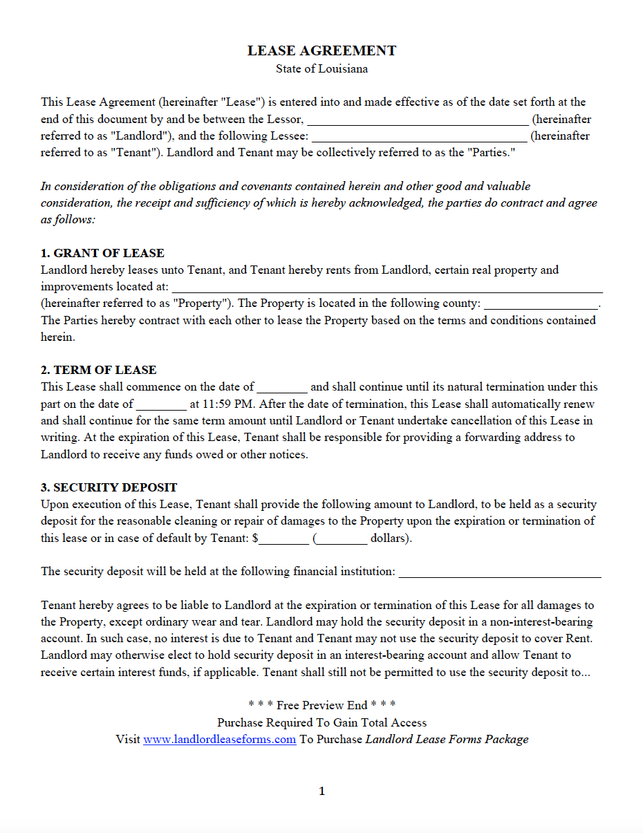 Oklahoma Lease Agreement All 50 States Residential Lease Agreement Landlord Lease Forms