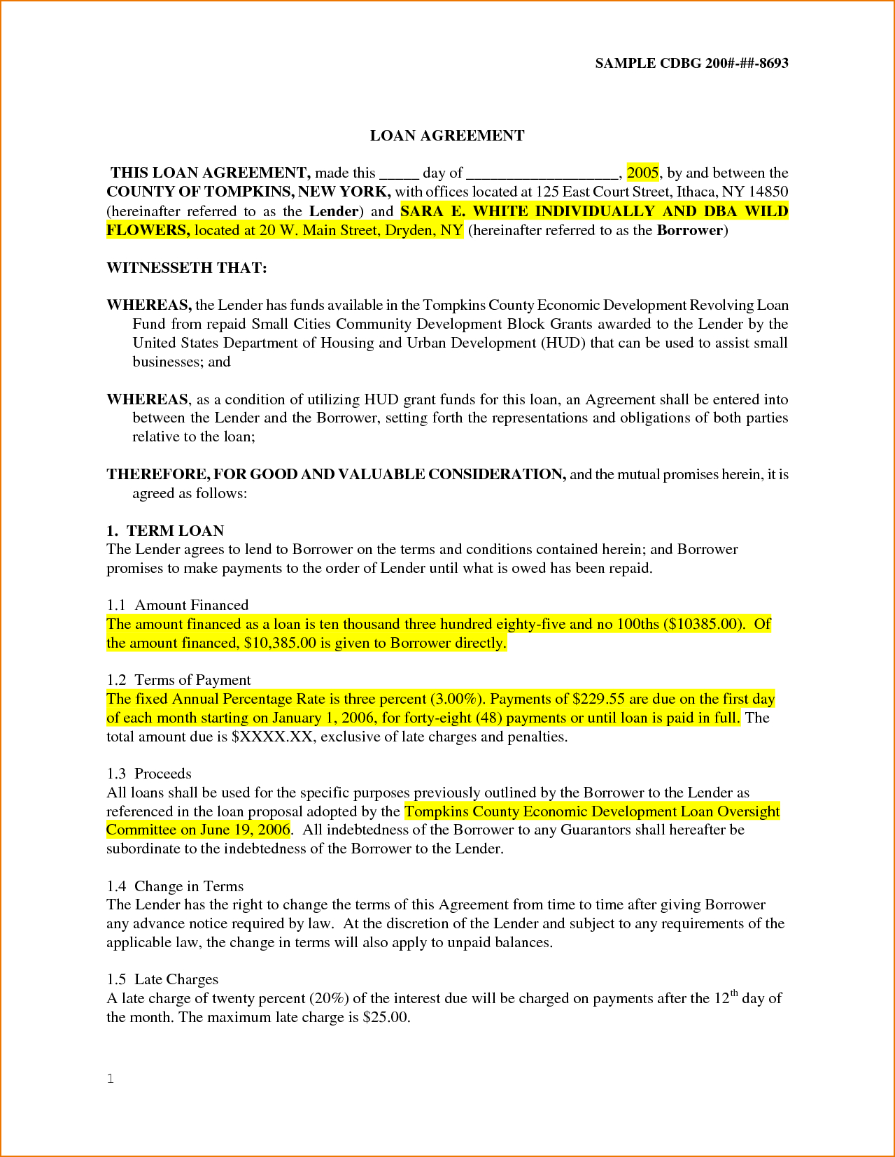 Personal Loan Agreement Letter 5 Sample Personal Loan Agreement Teknoswitch