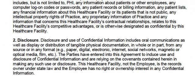 Phi Confidentiality Agreement Free Hipaa Employee Non Disclosure Agreement Nda Pdf Word