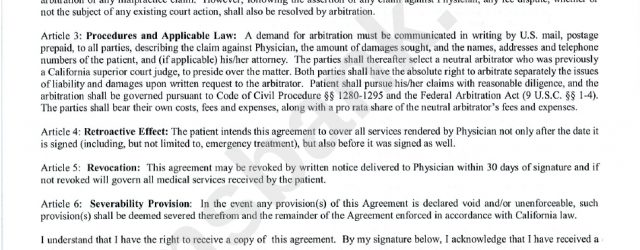Physician Patient Arbitration Agreement California Physician Patient Arbitration Agreement Form Printable