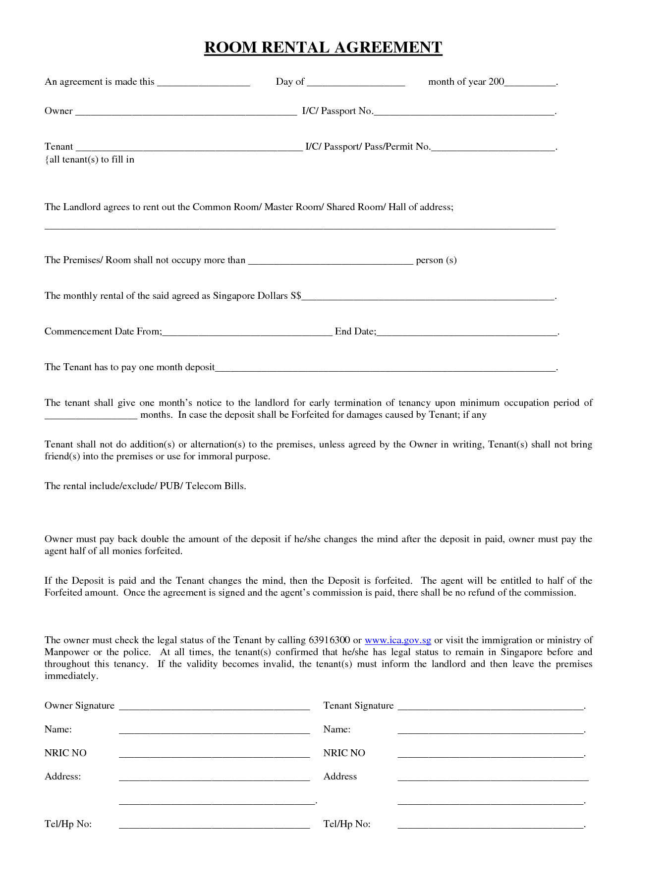 Rental Agreement Contract 006 House Rental Contract Template Homee Agreement Forms Washington