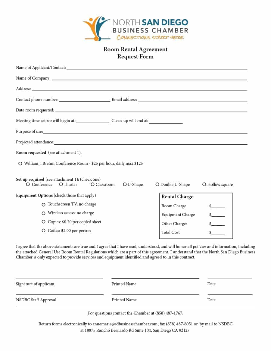 Rental Agreement Contract 39 Simple Room Rental Agreement Templates Template Archive