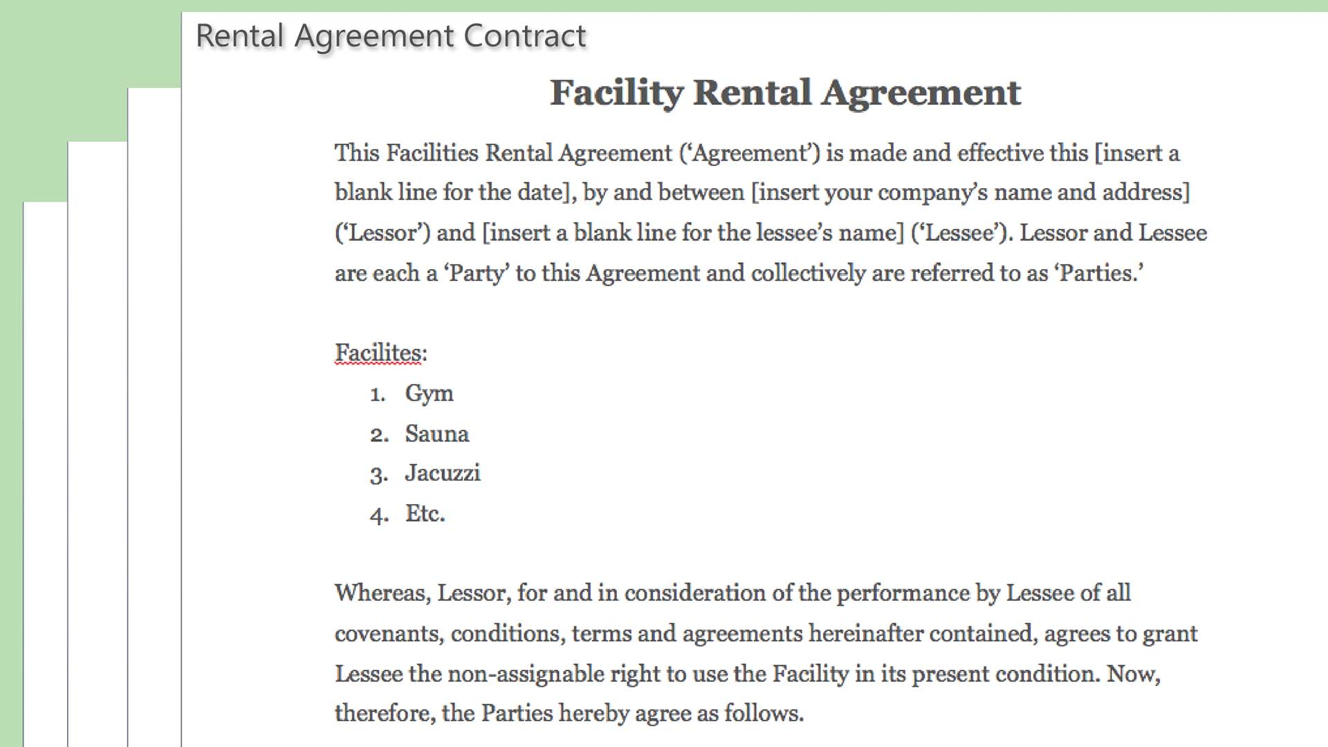 Rental Agreement Contract Rental Agreement Contract Construction Forum