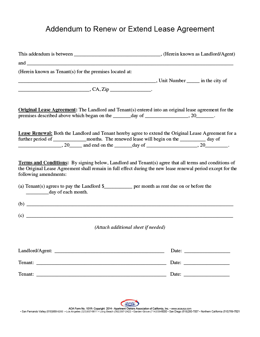 Rental Agreement Free Form 36 Best Lease Renewal Letters Forms Word Pdf Template Lab