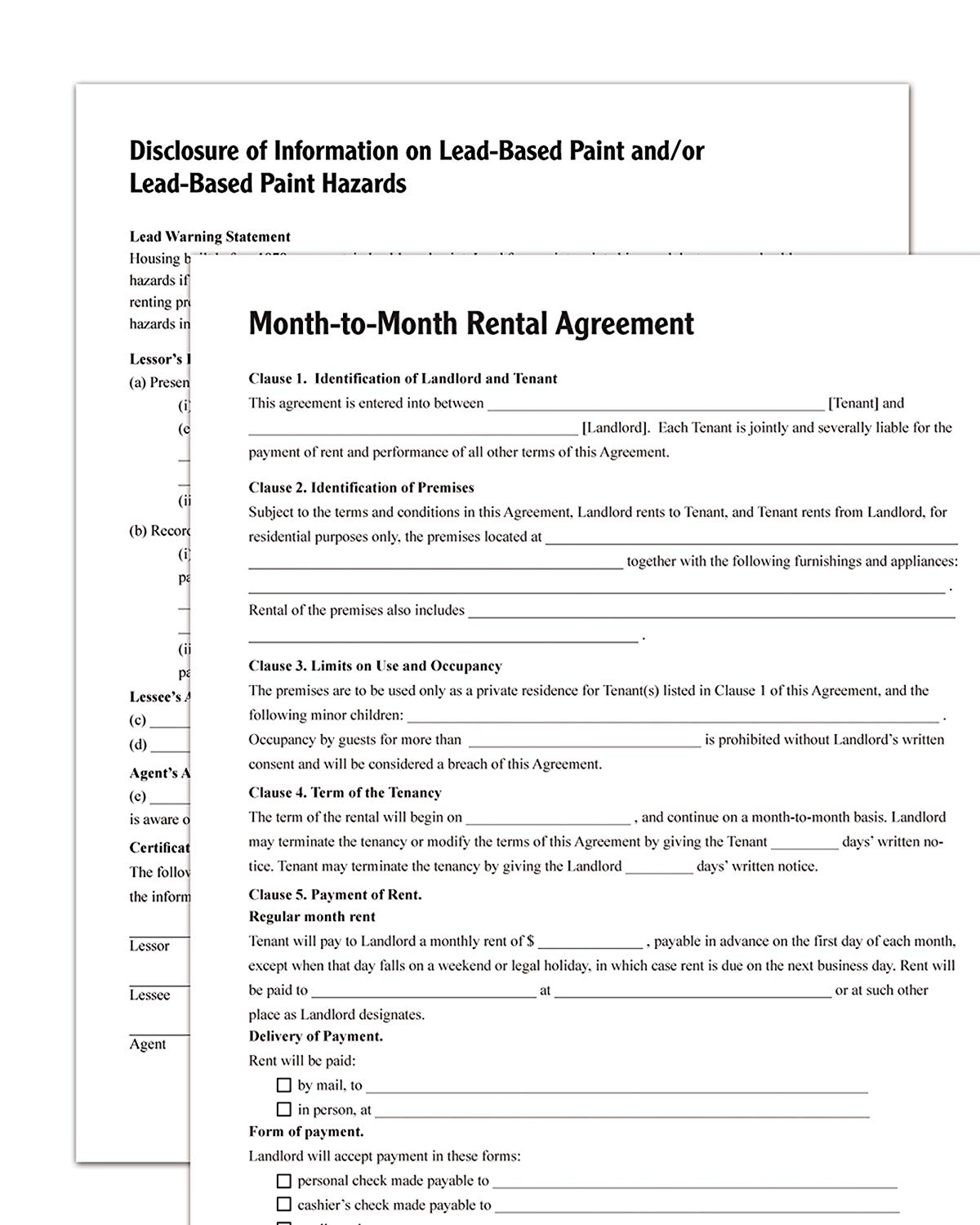 Rental Agreement Free Form Month To Rental Agreement Template Alberta Word Lease South Africa
