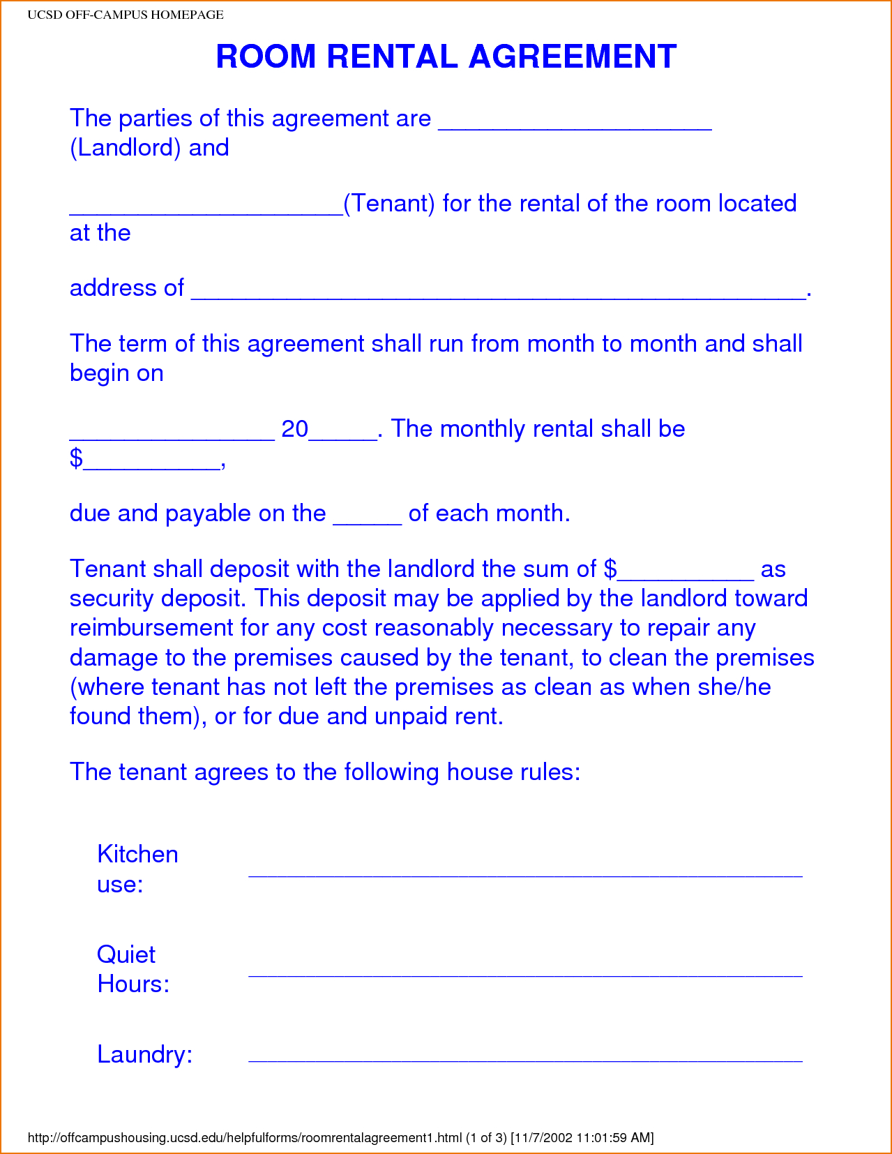 Rental Agreement Free Form Property Lease T Form All States Residential Landlord Forms Format