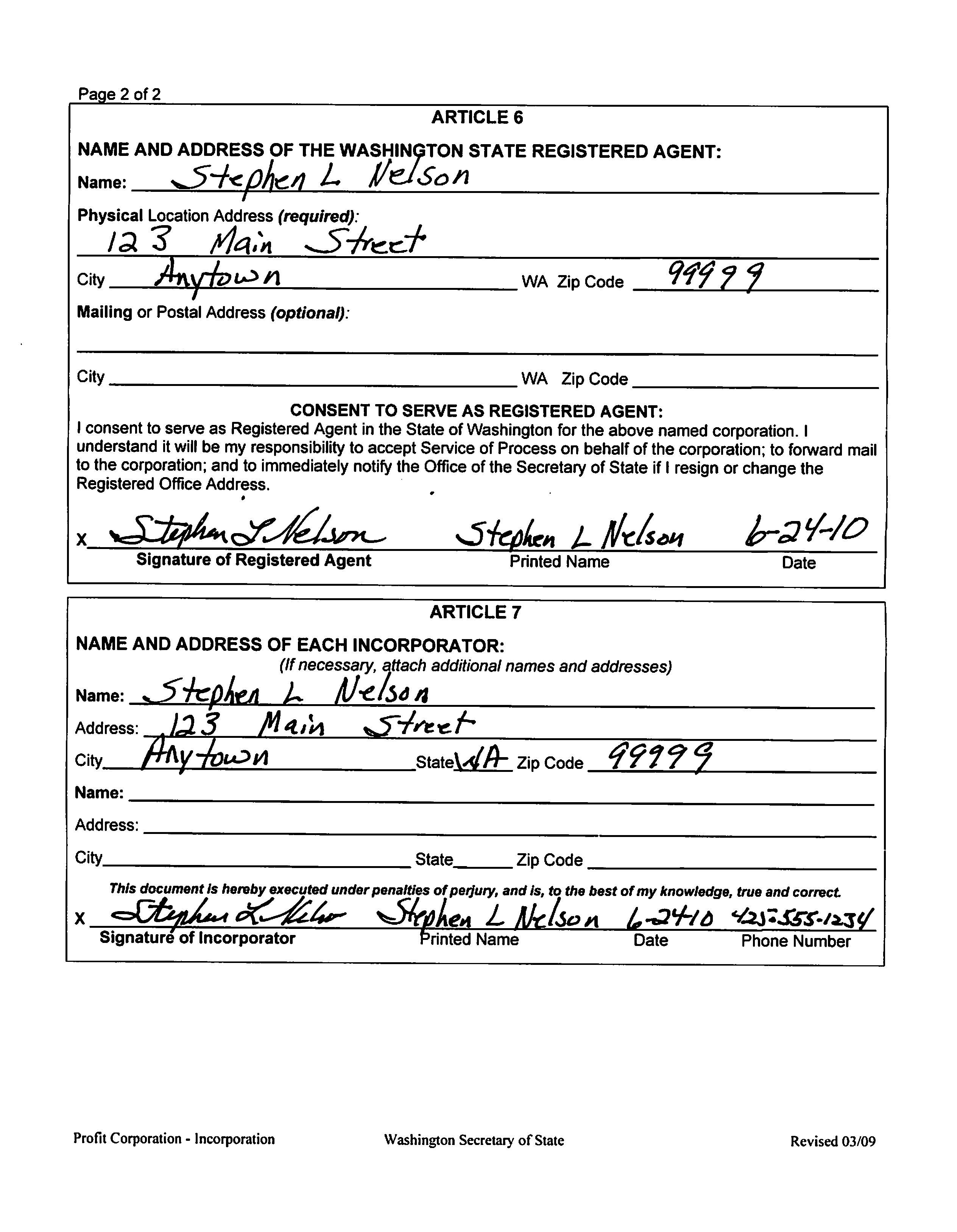 S Corp Operating Agreement Template Forming A Washington State Corporation Evergreen Small Business