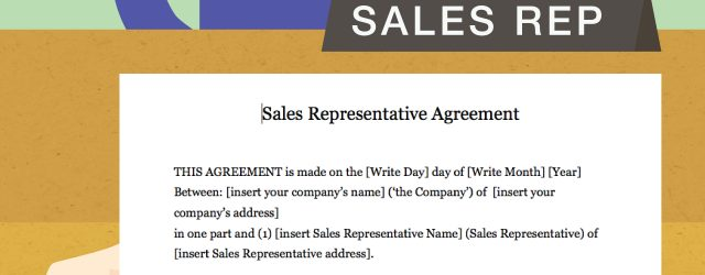 Sales Representative Agreement Template Free How To Draft A Sales Representative Agreement With Pictures