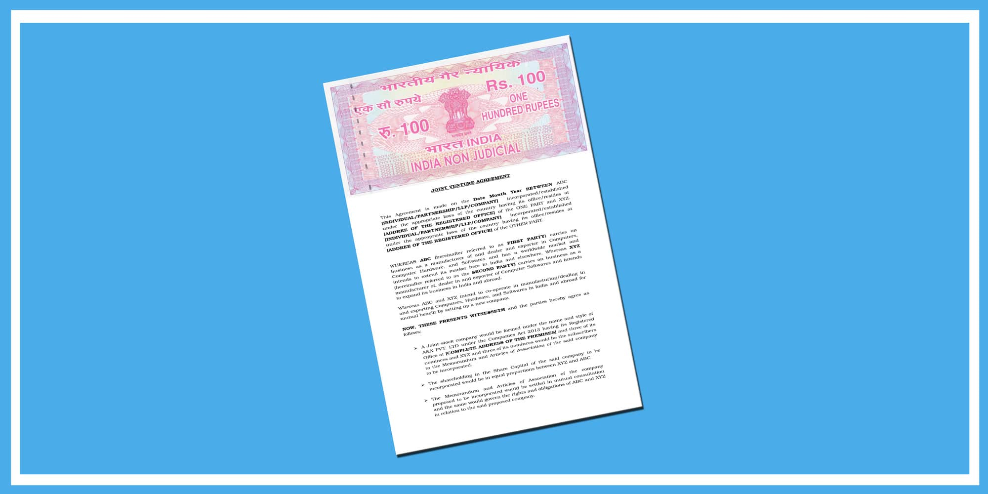 Sample Agreement For Takeover Of Business Sample Of Joint Venture Agreement Format Enterslice